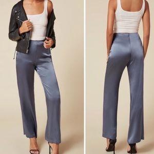 Reformation iris silk pants size 0